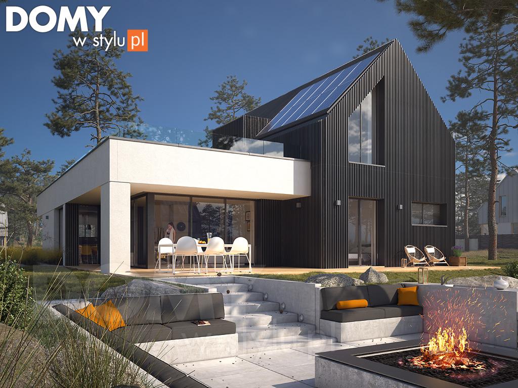 nowoczesny dom projekt wizualizacja